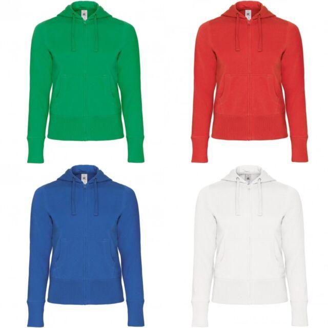 B/&C Mens Full Zip College Hooded Sweatshirt//Hoodie