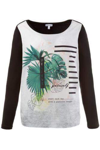 Gina Laura Shirt regular mit Multicolor Print schwarz NEU