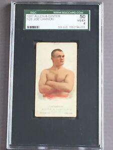 1887-N28-Allen-amp-Ginter-Joe-Lannon-Boxer-Boxing-Pugilist-graded-SGC-4