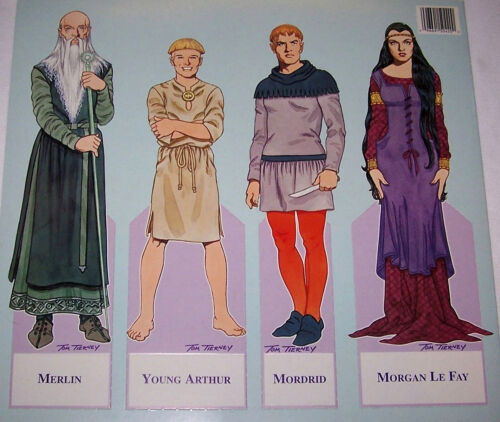 CAMELOT Medieval Paper Doll Book MINT Condition Case-Fresh Shackman Co. B