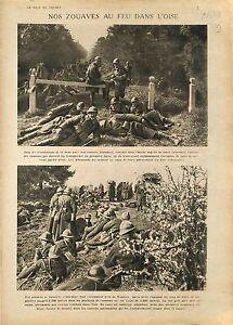 "Poilus Zouaves Bataille Oise & Nomeny Meurthe-et-Moselle/Alexander of 1918 WWI - France - Commentaires du vendeur : ""OCCASION"" - France"