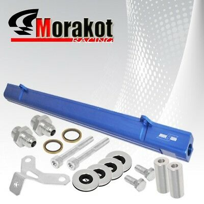 Turbo Engines Only JZA80 Aluminum Top Feed Fuel Injector Rail Blue with Silver Fittings 2JZ 2JZ-GTE Fit Toyota 2JZGTE