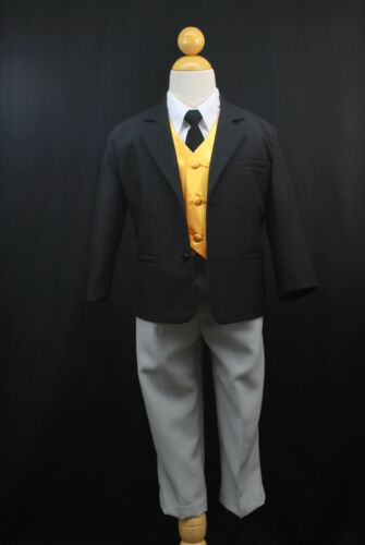 NEW BABY BOY TODDLER HALLOWEEN THOMAS /& FRIENDS FORMAL TUXEDO SUIT YELLOW VEST