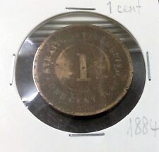 STRAITS SETTLEMENTS  QUEEN VICTORIA  1 cent  1884