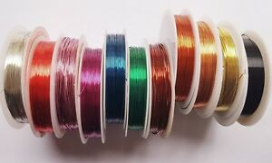 CHOOSE-THICKNESS-1-REEL-COLOURED-BEADING-CRAFT-WIRE-WRAPPING-SCULPTING-TIARA