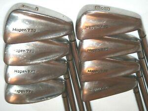 Hagen 770 irons 3-PW with Hagen lightweight steel firm flex shafts midsize grips