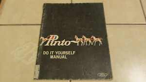 Vintage Ford Pinto - Do it Yourself Manual - 1970 1st ...