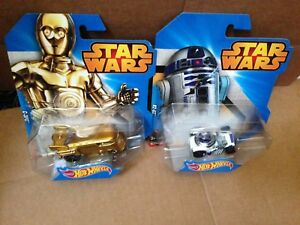 STAR-WARS-C3PO-amp-R2-D2-Hot-Wheels-Character-Cars