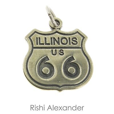 925 Sterling Silver Route 66 Texas Charm Made in USA