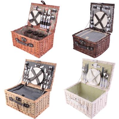 Picknickkorb Weidenkorb Picnic Kühltasche Piknikkorb für 2 oder 4
