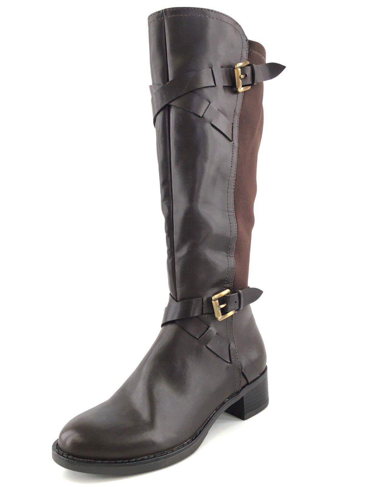 Franco Sarto donna Chrome Marroneee Knee High Leather Knit stivali Dimensione 5.5 M