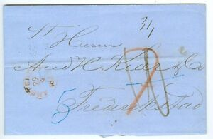 NETHERLANDS/NORWAY: Cover from Amsterdam to Fredrikstad 1859.