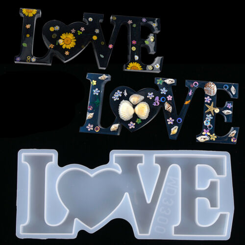 DIY LOVE//HOME//FAMILY Sign Silicone Resin Casting Mold Jewelry Making Epoxy Mould