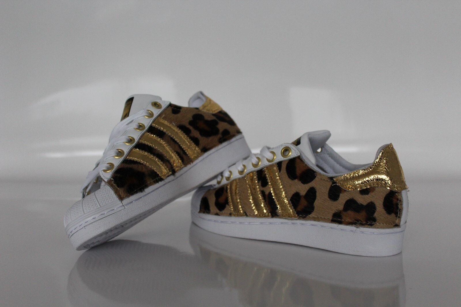 scarpe con adidas super star con scarpe cavallino maculato e oro 3e07ed
