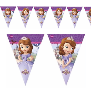Sofia-The-First-Flag-Banner-Bunting-Children-039-s-Birthday-Party-Decoration-Girls