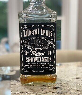 Trump 2020 MAGA Donald Trump Jack Daniels Liquor Bottle Label Trump Gift