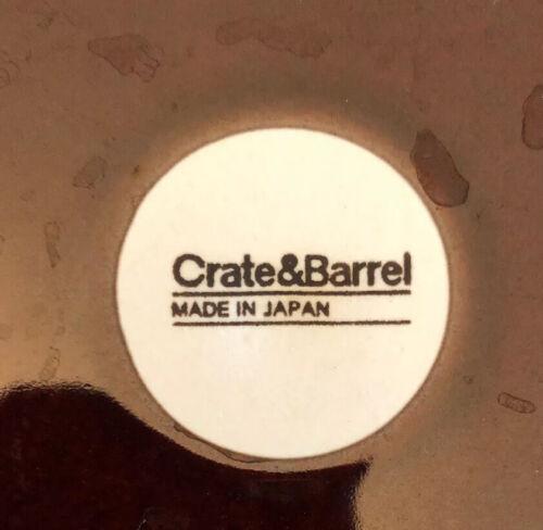 """Brown Mahogany EUC Japan Crate /& Barrel 11/"""" Classic Serving Salad Pasta Bowl"""