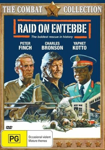 "1 of 1 - New DVD ""Raid On Entebbe"" Charles Bronson & Peter Finch Hijacking (Rare Movie)"