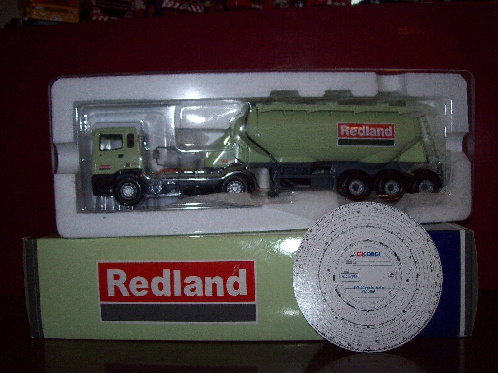 CORGI MODERN Transport  Lourd CC11904 ERF EC poudre TANKER rougeLAND CiHommest 1 50  haute qualité générale