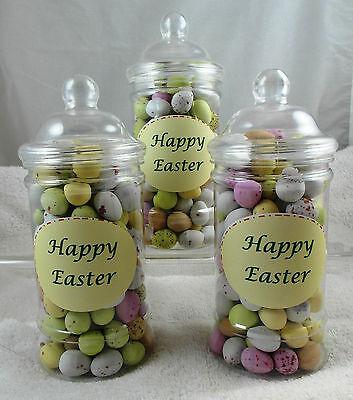 Milchschokolade Ostern Mini Eier, 400 gramm in Viktorianisch Glas
