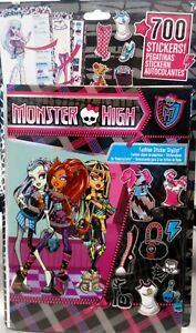 700x-Monster-High-Sticker-Stickeralbum-Aufkleber-Album-Frankie-Clawdeen-neu