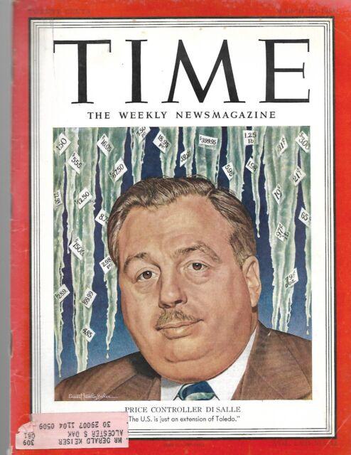 Time Magazine Price Contoller Di Salle March 19 1951