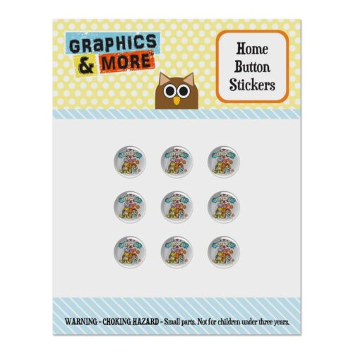 Fraggle Rock Cartoon Home Button Stickers Fit Apple iPhone