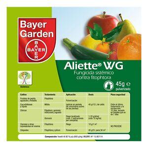 Bayer Aliette WG - Fungicida Preventivo y Curativo - Formatos: 45 / 200 / 500 gr