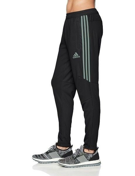 adidas Men's Soccer Tiro 17 Training Pants Blacktrace Green Size XL