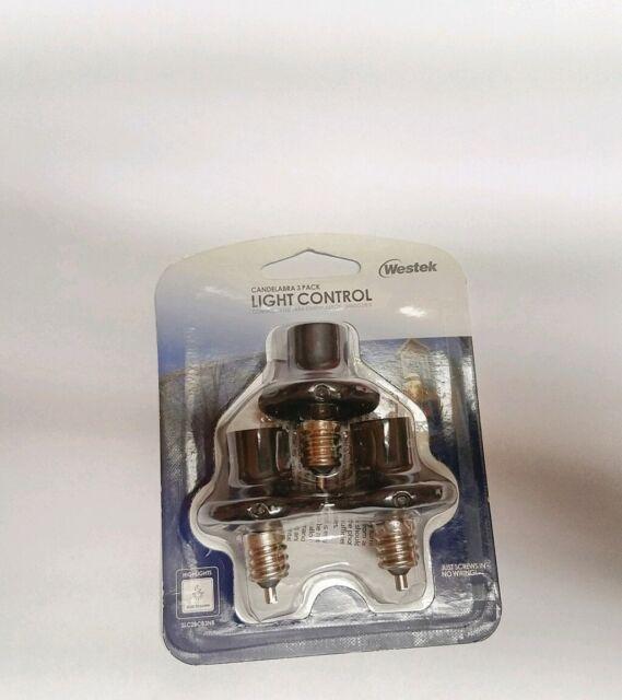 Westek Candelabra 3-Pack Light Control Saves Energy, Dusk to Dawn, Outdoor, Screw-in