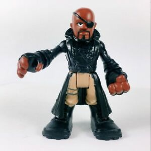 "PlaySkool Heroes Nick Fury 2.5/"" Figurine Marvel Super Hero Squad Avengers"