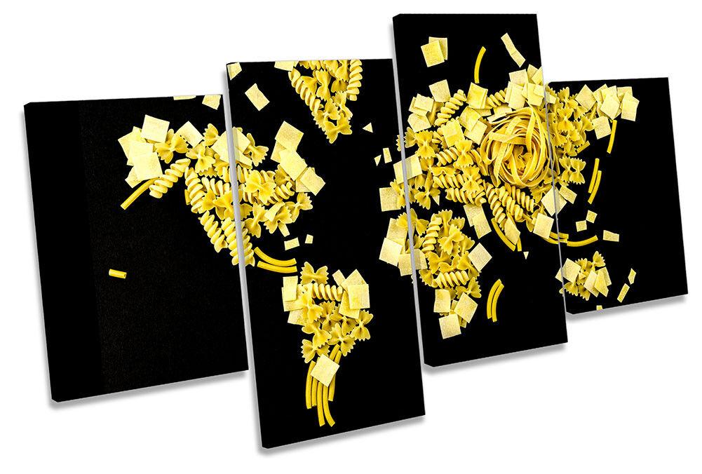 World Map Pasta Picture MULTI CANVAS WALL ART ART ART Print f6cad5