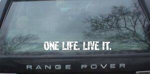 Details About One Life Live It Stickers Land Rover Camel Trophy 4x4 Off Road Funny