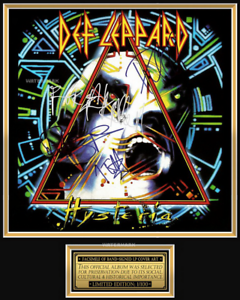 Def Leppard, 'Hysteria' Album 8 x 10 Inch Color Picture/Poster Signed Print New