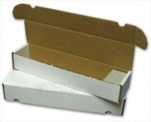 Trading Card Storage Box Gaming BCW Corrugated Cardboard 930 Count Baseball