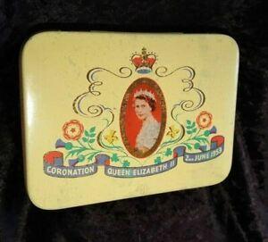Queen Elizabeth II Coronation Tin - Cadbury - 1953 Keepsakes Stash Gift Tin