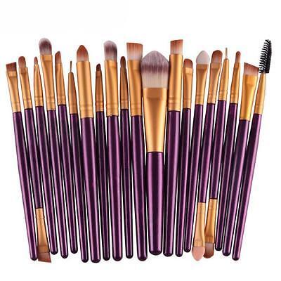 20Pcs Makeup Brushes Set Powder Foundation Eyeshadow Eyeliner Lip Cosmetic Brush