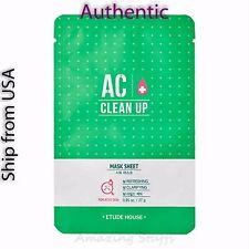 Etude House AC Clean Up Mask sheet 27 g ( 2 sheets)  -Korea Cosmetics