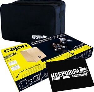 Percussion Cba1 Cajon Kit Medium + Keepdrum Sac + Sitzpad-afficher Le Titre D'origine