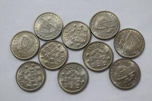 PORTUGAL-2-50-1969-HIGH-GRADE-10-COINS-LOT-B18-KK4