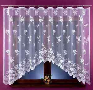BEAU-NEUF-jacquard-Rideau-filet-floral-style-pret-a-l-039-em-Ploi-320x160cm-fenetre
