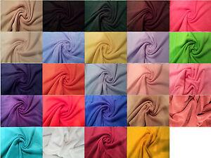 Antipil-Polar-Fleece-Fabric-24-Plain-Colours-59-034-150cm-wide-per-metre-half