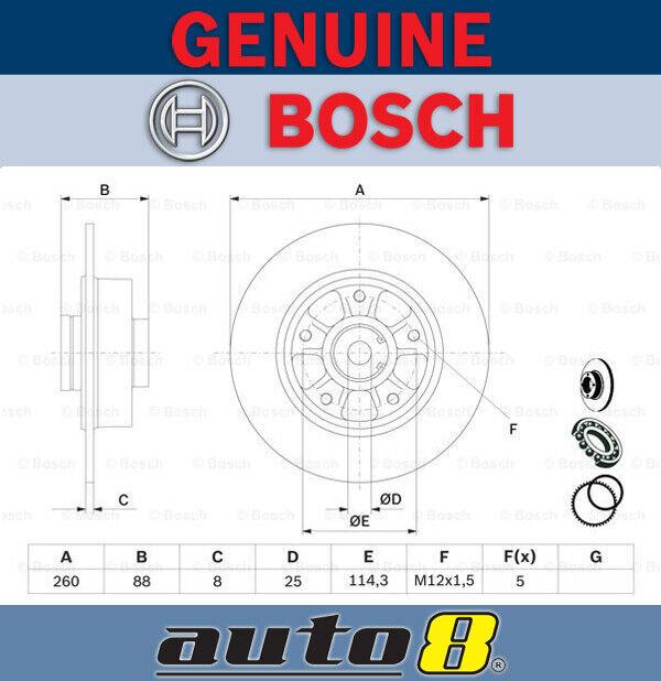 Bosch Rear Brake Disc Rotor for Renault Megane  BZ 1.5L K9K 836 2008 - 2016