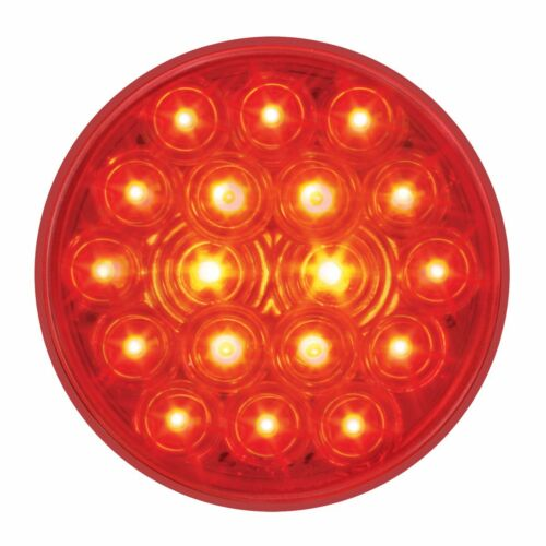 """S//T//T Lights w// Grommets - FOUR each 18 LED 4/"""" RED SEMI TRUCK"""