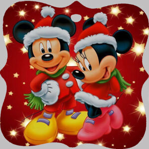 image is loading minnie mouse and mickey mouse disney wooden christmas - Mickey Mouse Christmas Tree Decorations