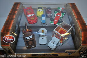NEW Disney Store Diecast Cars 8pc Set Holy Moly Pope Popemobile Luigi Guido 1:43