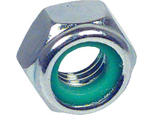 Sechskantsicherungsmutter mit Kunststoffring verzinkt DIN 985 M 4 VPE 100