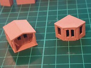 3d printed N gauge garden summerhouse x2