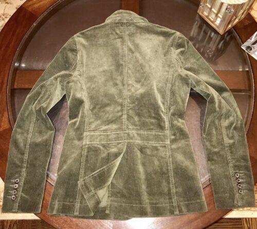 de côtelé Sz Lauren Hacking Med en Olive sport femmes Green personnalisé Manteau velours Ralph pour AEpqawF