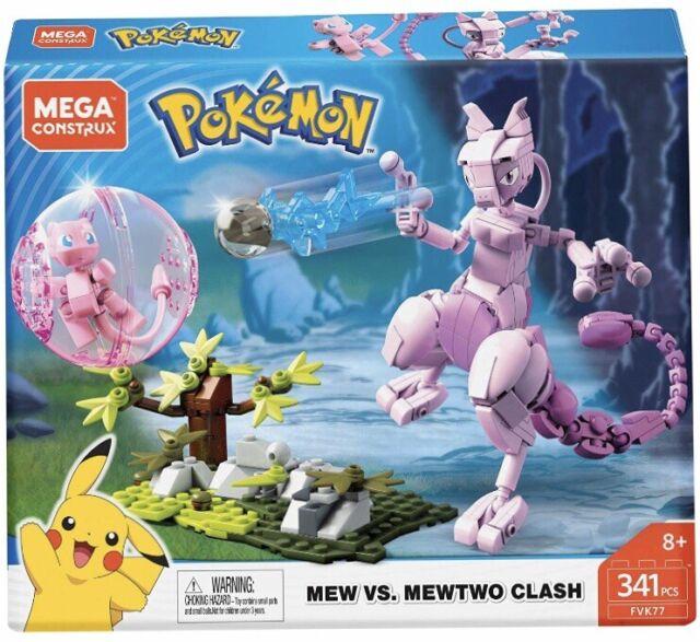 Mega Construx Pokémon Mew Vs. Mewtwo Block 341 Piece FVK77 Brand New Sealed!